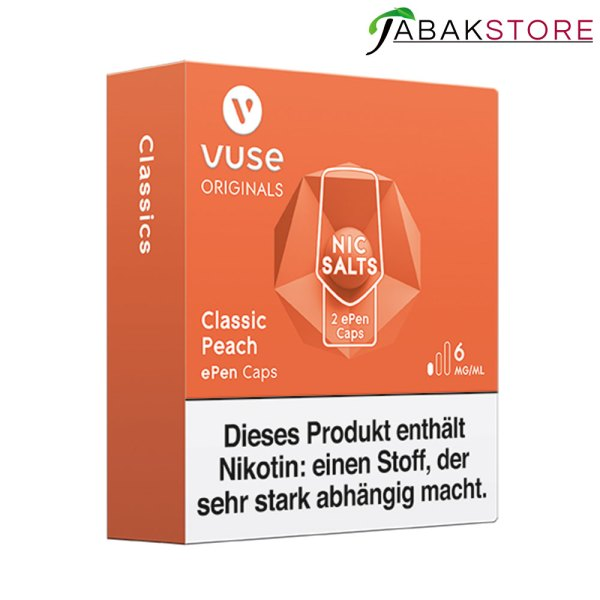 Vuse-epen-caps-classic-peach-6-mg-links-seitlich