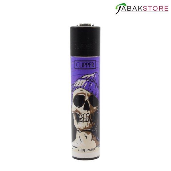 Skull-Lila-Clipper-Feuerzeug