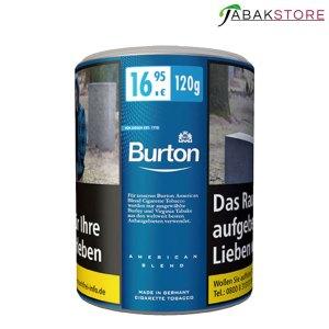 Burton Blue Zigarettentabak mit 120 gr. Inhalt zu 16,95 Euro
