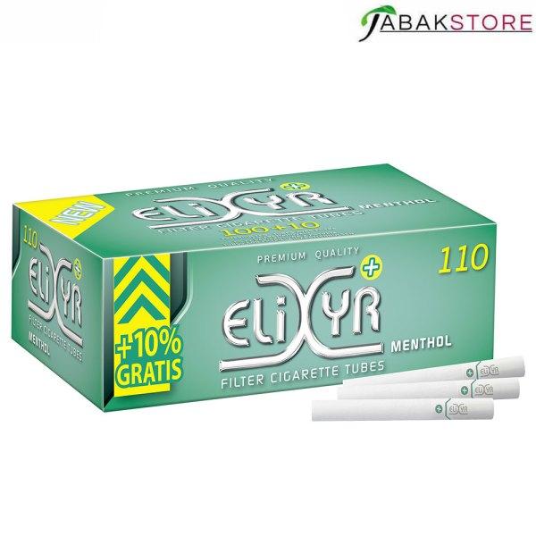 Elixyr-Menthol-Fitlerhülsen-mit-110-Hülsen