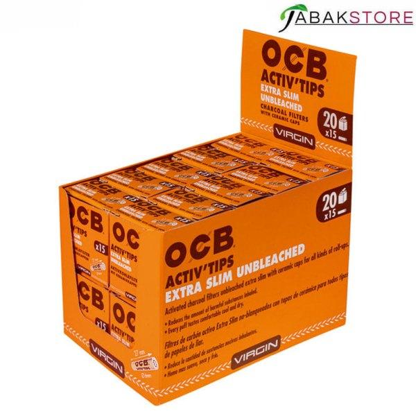 Ganzes-Gebinde-von-OCB-Activ-Tips-Extra-Slim-Unbleached-20x15