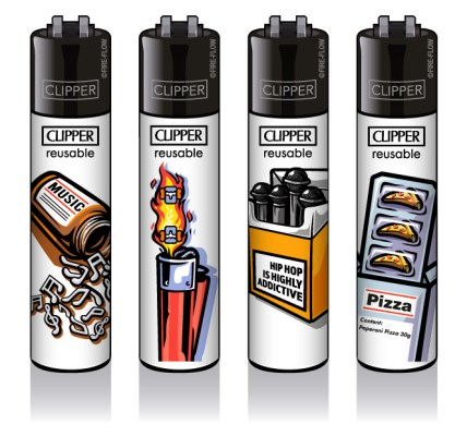 Clipper-Feuerzeuge-Abstrakt-Kollektion