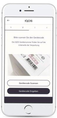 Gerätecode-von-der-IQOS-eingeben-und-absenden
