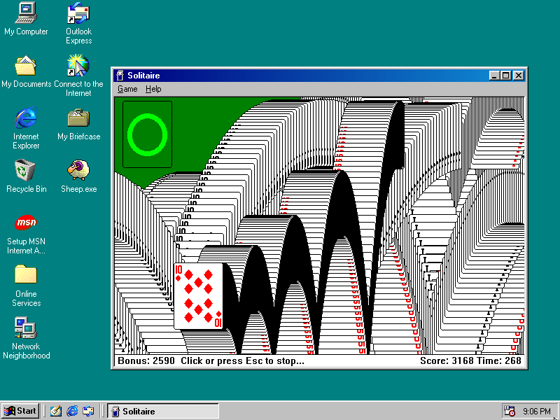 windows 98 on your