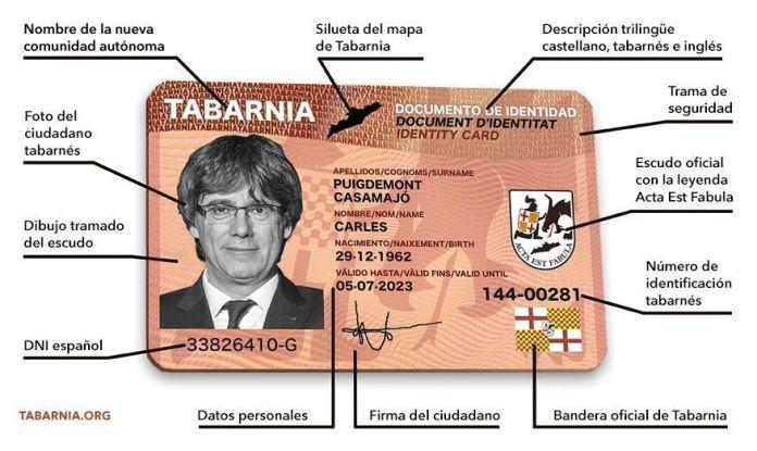 Descripción del Documento Tabarnés de Identidad.