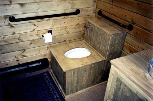 Rustic Siding, Hardware And Fixture Surrounds Were Added Along With The Tin Bucket  Sinks.