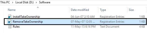 Remove take ownership from registry   Fix Destination Folder Access Denied Error