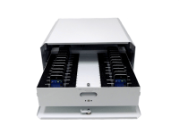 Trays & cabinets sync and charge iPods, iPhones & more