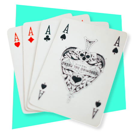 Photo of playing cards with all aces