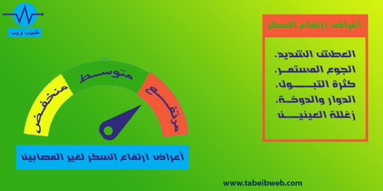 اعراض ارتفاع السكر لغير المصابين