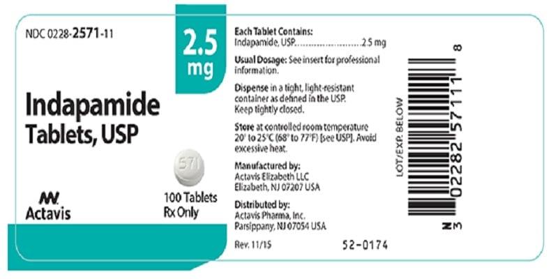 إنداباميد Indapamide لارتفاع ضغط الدم الجرعات واىمحاذير