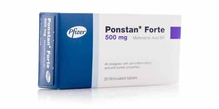 دواء بونستان Ponstan للألم والالتهابات الجرعات والمحاذير