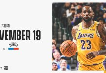 Onde a assistir a Oklahoma City Thunder x Los Angeles Lakers 19/11/2019 – NBA