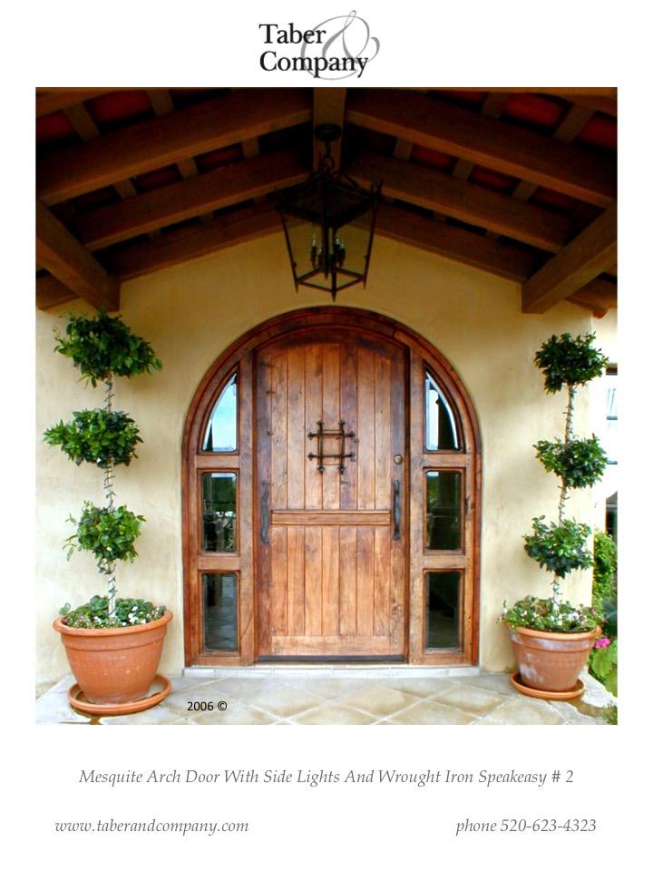 ... Brow Top Door With Hand Forged Wrought Iron, Radius Top Door With  Sidelights,craftsman ...