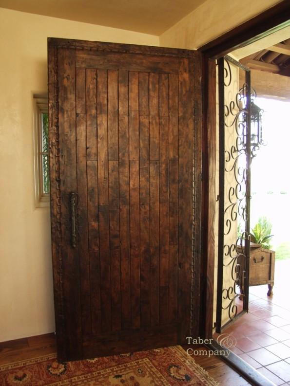 Spanish Mediterranean Entry Door Taber & Company