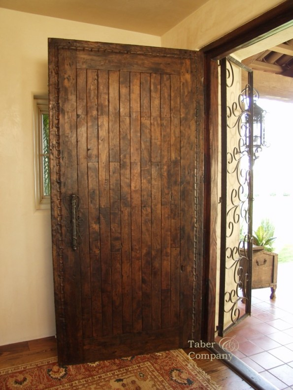 Spanish Mediterranean Entry Door Taber & Company