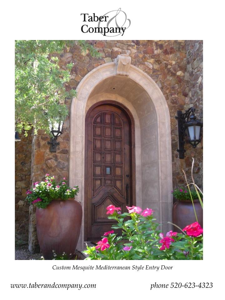 Custom Door For Mediterranean Estate Scottsdale, Arizona