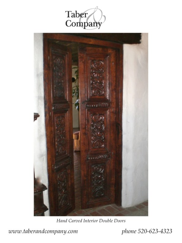 Hand Carved Double Doors
