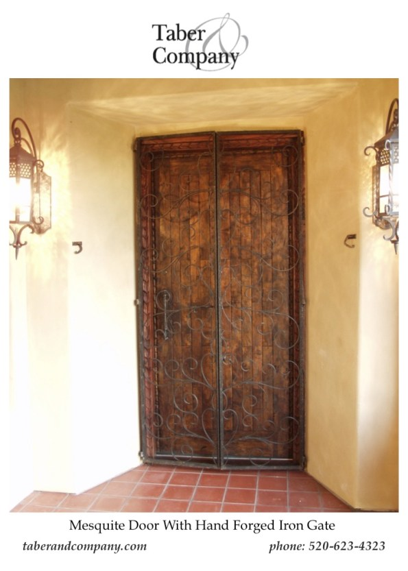 Wood Doors  Mediterranean Spanish Hacienda Style Forged Iron Door Designed With A Solid Mesquite Entry Door french door, dutch door, door and windows, true divided lines, wooden entry door, custom wood doors, mesquite wood doors, double doors with glass, wood double doors, doors for luxury homes, craftsman style, european style doors, doors for rustic homes, rustic wood doors, custom doors california, door builders, spanish style doors, hacienda style doors, santa barbara style doors, traditional style front doors, ranch style doors, estate doors, high end custom front doors, wooden doors, transitional style front doors, dark wood front doors, doors for builders, doors for custom homes, wholesale doors, italian style front doors, spanish style wood doors.