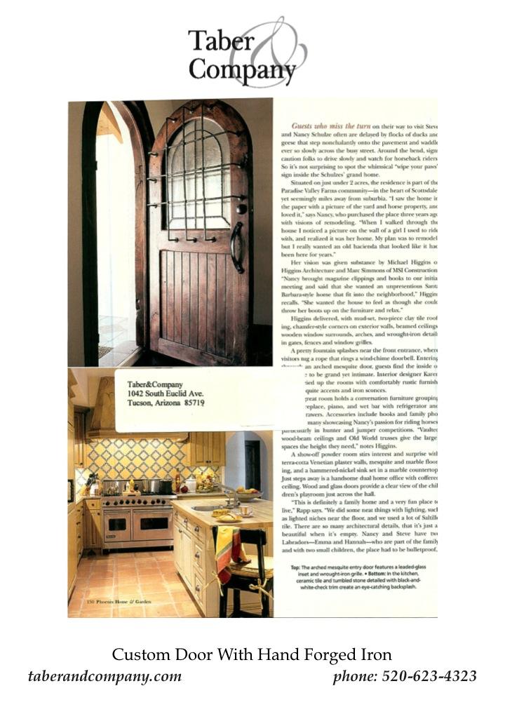 Custom Wood Doors - Taber & CompanyTaber & Company