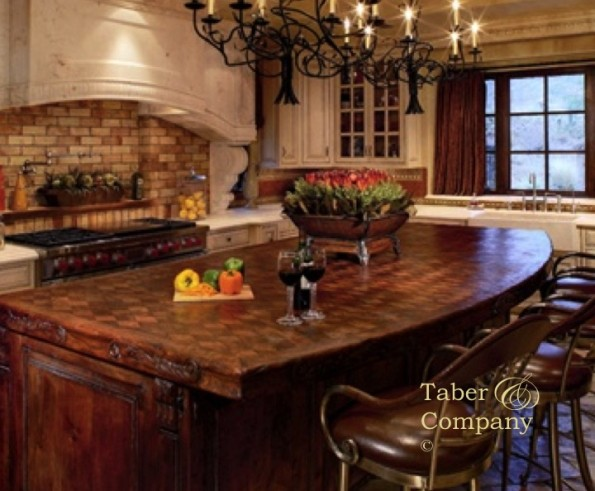 Custom Made Wood Kitchen Islands Taber Companytaber Company