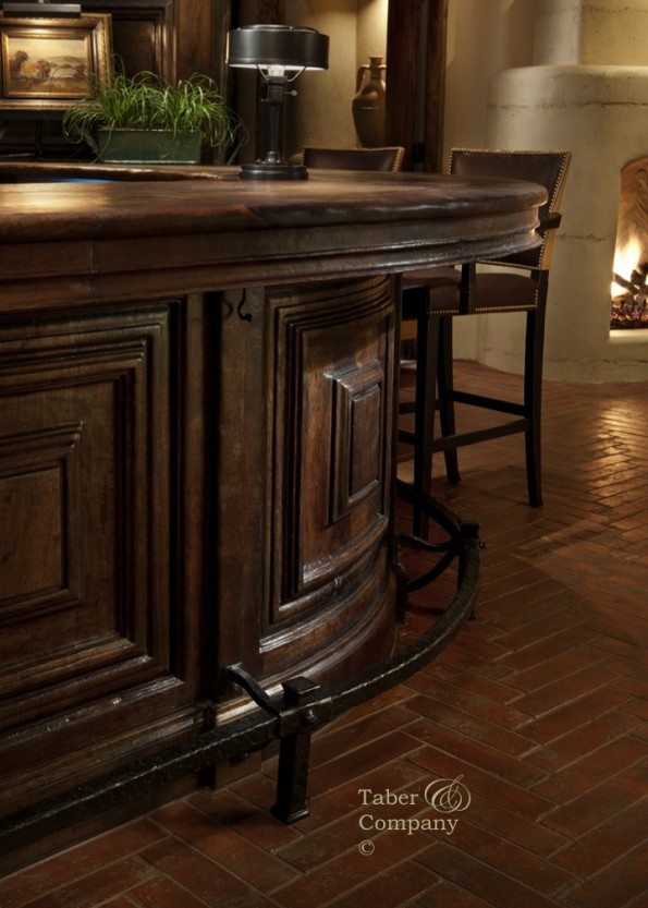 handcrafted custom made wood bar