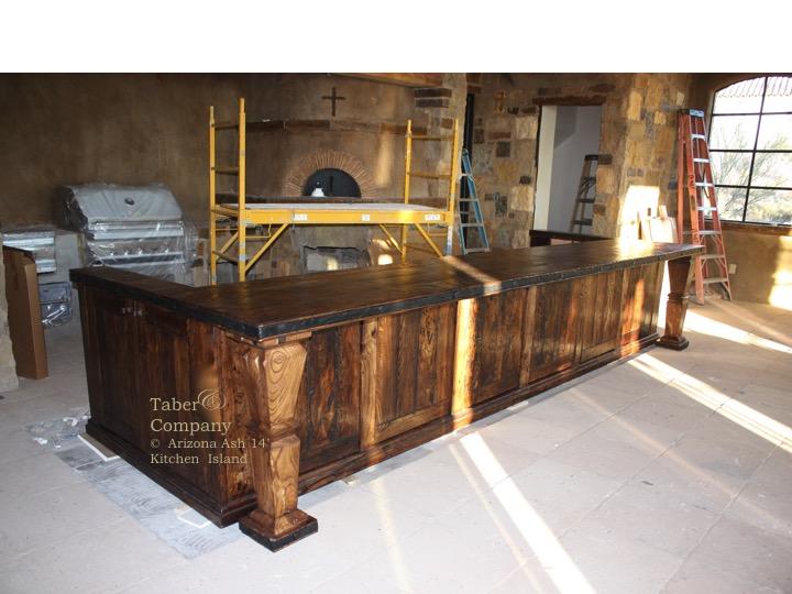 Kitchen Island Rustic mediterranean style wood kitchen island - taber & companytaber