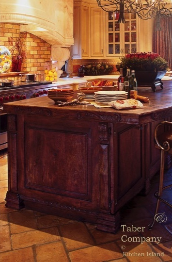 Handcrafted Custom Wood Kitchen Islands, wood countertop,furniture style kitchen islands old world, with seating