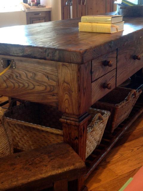 wood kitchen island wood countertops millwork Scottsdale