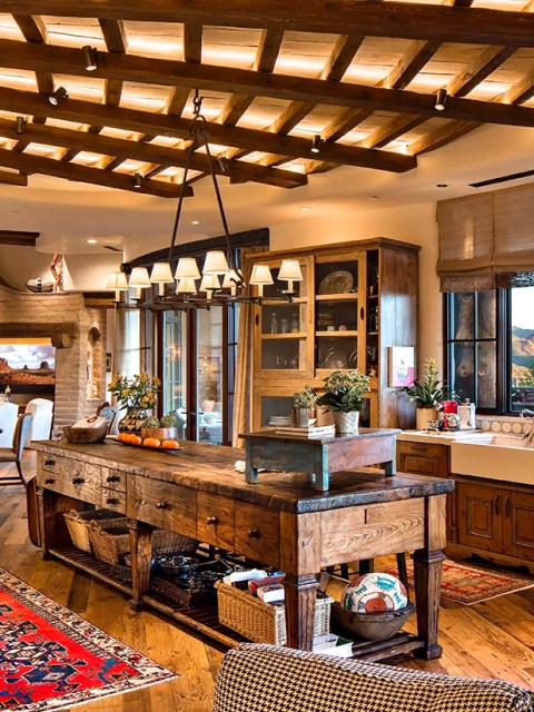 Wood Kitchen Island - Wood Countertop - Millwork- Scottsdale ...