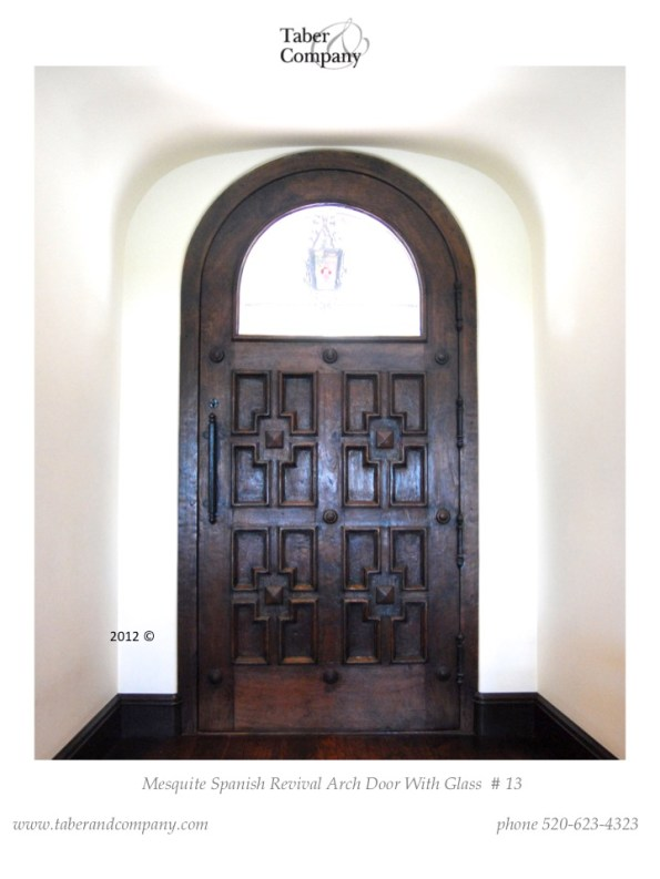 spanish revival modern wood door