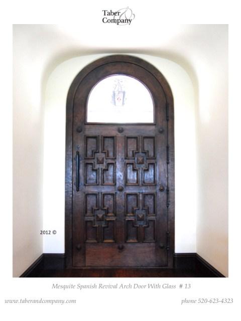 spanish revival modern wood door