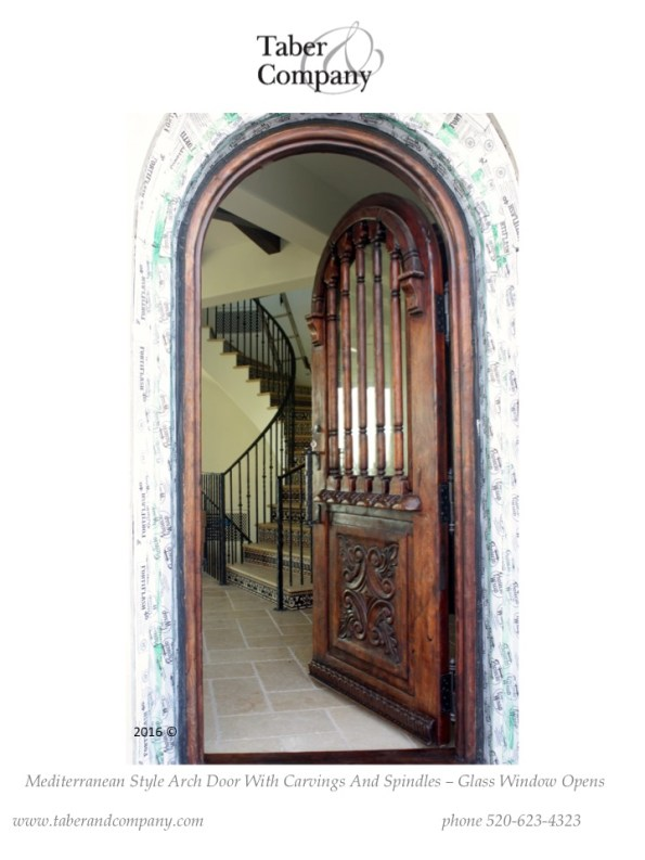 mediterranean style true arch wood door