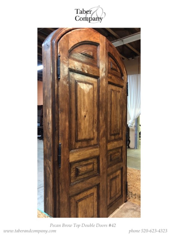 double doors reclaimed wood for a French style home.