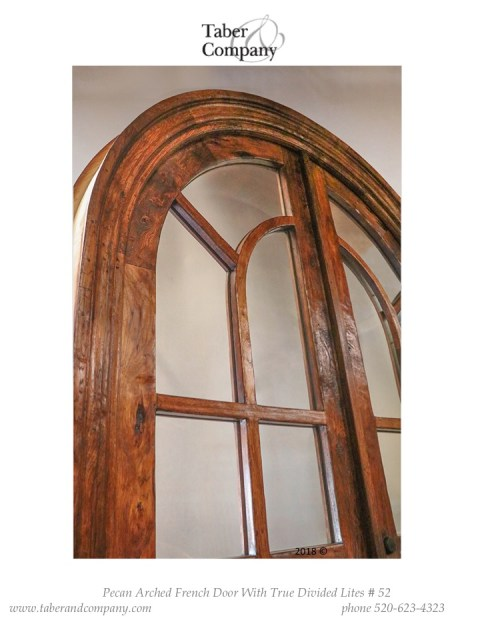 "massive 120"" true arch double door with divided lights. Traditional style arched top 10' double door with glass."