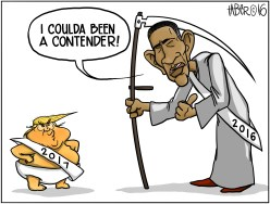 The Contender - Father Obama Time relinquishes his office to the orange man-child