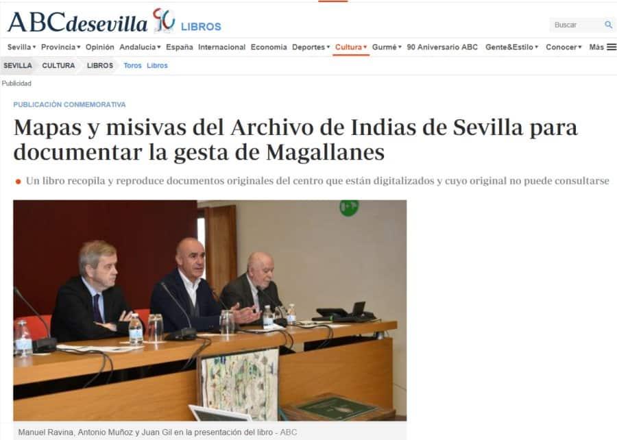 Mapas y misivas del Archivo de Indias de Sevilla para documentar la gesta de Magallanes, ABC SEVILLA