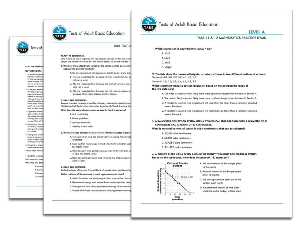 medium resolution of TABE 11\u002612 Sample Practice Items   Tabetest   Tabetest