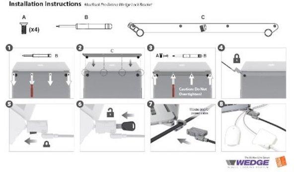noble mbNoble Wedge Bracket Instructionsa11 instructions