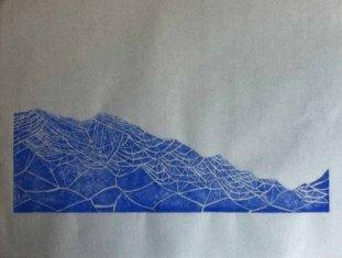 Linocut 10.5 x 30 cm