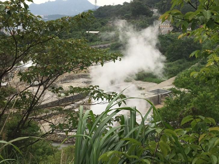 硫黄谷の噴気孔