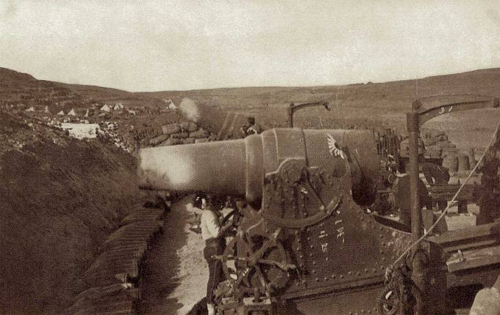 日露戦争で使われた二十八糎榴弾砲