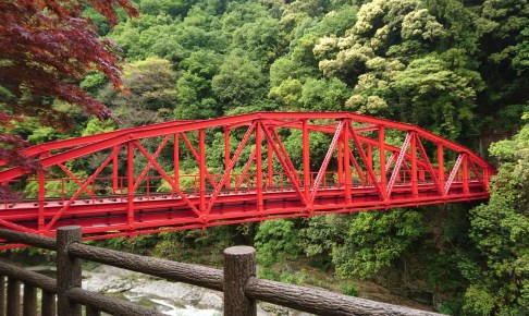 旧別子鉱山鉄道端出場鉄橋(足谷川鉄橋)