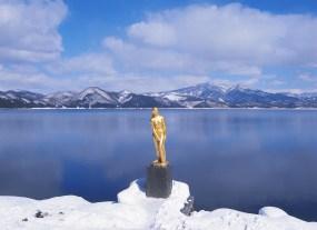 田沢湖(たつこ像)