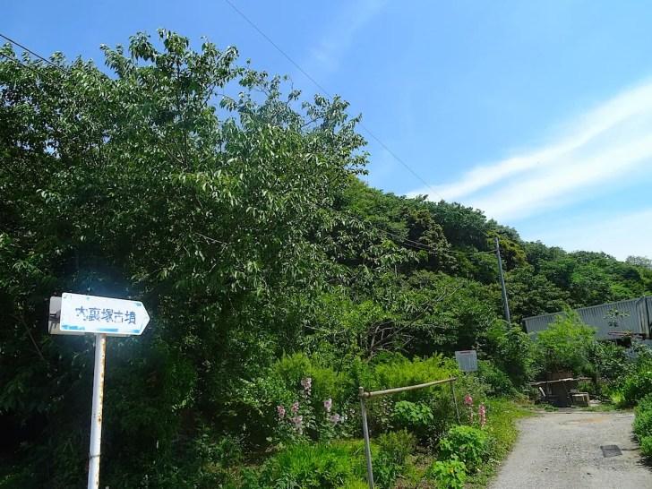 内裏塚古墳の入口