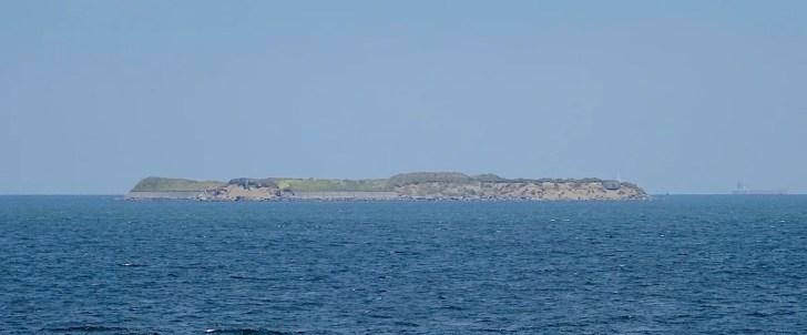 海上から眺めた第一海堡