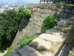 この石垣の上に櫓が建っていた
