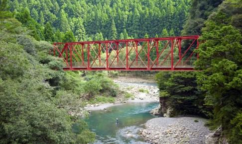 旧魚梁瀬森林鉄道施設・明神口橋