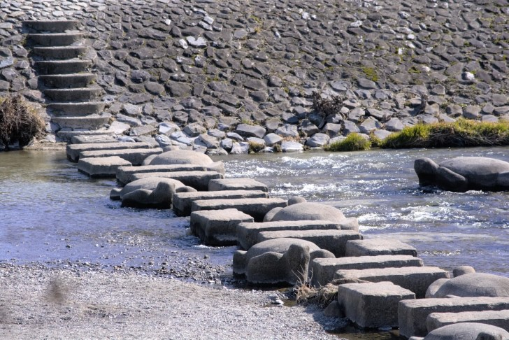 鴨川・荒神の飛び石