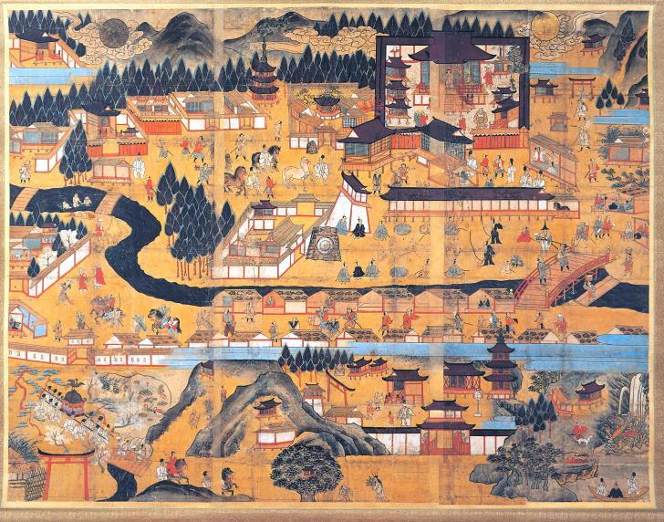 多賀大社参詣曼荼羅図